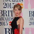 Taylor Swift - 35e cérémonie des Brit Awards à l'O2 Arena de Londres, le 25 février 2015.