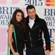 Michelle Keegan et son fiancé Mark Wright - 35e cérémonie des Brit Awards à l'O2 Arena de Londres, le 25 février 2015.