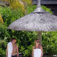 Exclusif - James Blunt et sa femme Sofia Wellesley profitent d'un après-midi ensoleillé sur une plage de l'Île Maurice. Le 22 février 2015.