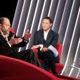 Exclusif - Enregistrement de l'émission  Le Divan  présentée par Marc-Olivier Fogiel, avec Eric Dupond-Moretti en invité, le 31 janvier 2015. L'émission sera diffusée le 3 mars 2015 à partir de 23h05 sur France 3.
