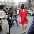"""Leigh Lezark - Arrivées au défilé de mode """"Giambattista Valli"""", collection prêt-à-porter automne-hiver 2015/2016, à Paris. Le 9 mars 2015"""