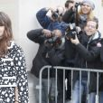 """Miroslava Duma (Mira Duma) - Arrivées au défilé de mode """"Chanel"""", collection prêt-à-porter automne-hiver 2015/2016, à Paris. Le 10 mars 2015"""