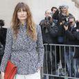 """Caroline de Maigret - Arrivées au défilé de mode """"Chanel"""", collection prêt-à-porter automne-hiver 2015/2016, à Paris. Le 10 mars 2015"""