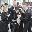 """La chanteuse Dani - Arrivées au défilé de mode """"Chanel"""", collection prêt-à-porter automne-hiver 2015/2016, à Paris. Le 10 mars 2015"""
