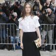 """Marie-Ange Casta - Arrivées au défilé de mode """"Chanel"""", collection prêt-à-porter automne-hiver 2015/2016, à Paris. Le 10 mars 2015"""