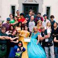 Sarah Michelle Gellar et Whitney Avalon sur le tournage de la vidéo Princess Rap Battle. Mars 2015