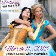 Sarah Michelle Gellar et Whitney Avalon s'affrontent dans Princess Rap Battle. Mars 2015