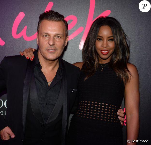 Exclusif - Jean-Roch et Kelly Rowland - Soirée Mercedes Love Fashion week au Vip Room à Paris le 10 mars 2015.