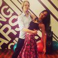 """""""Leila Ben Khalifa et son partenaire de Danse avec les stars, le 11 mars 2015 au Liban."""""""