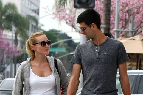 Novak Djokovic et sa belle Jelena : Surpris au cours d'un rare moment d'intimité