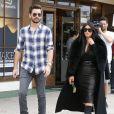 Kim Kardashian et Scott Disick à Woodland Hills, Los Angeles, le 30 janvier 2015.