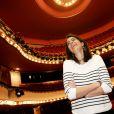 """Exclusif - Anouchka Delon - Rendez-vous au théâtre de la Michodière à Paris, le 11 mars 2015 pour la pièce """"Hibernatus""""."""