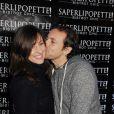 """Philippe Candeloro et sa femme Olivia lors de l'inauguration du restaurant """"Saperlipopette!"""" de Norbert Tarayre à Puteaux, le 17 novembre 2014"""
