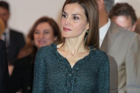 Letizia d'Espagne : Robe recyclée et figures imposées au centre Reine Sofia