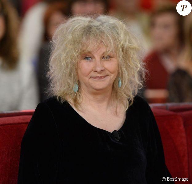 """Yolande Moreau - Enregistrement de l'émission """"Vivement dimanche"""" à Paris le 5 novembre 2014."""
