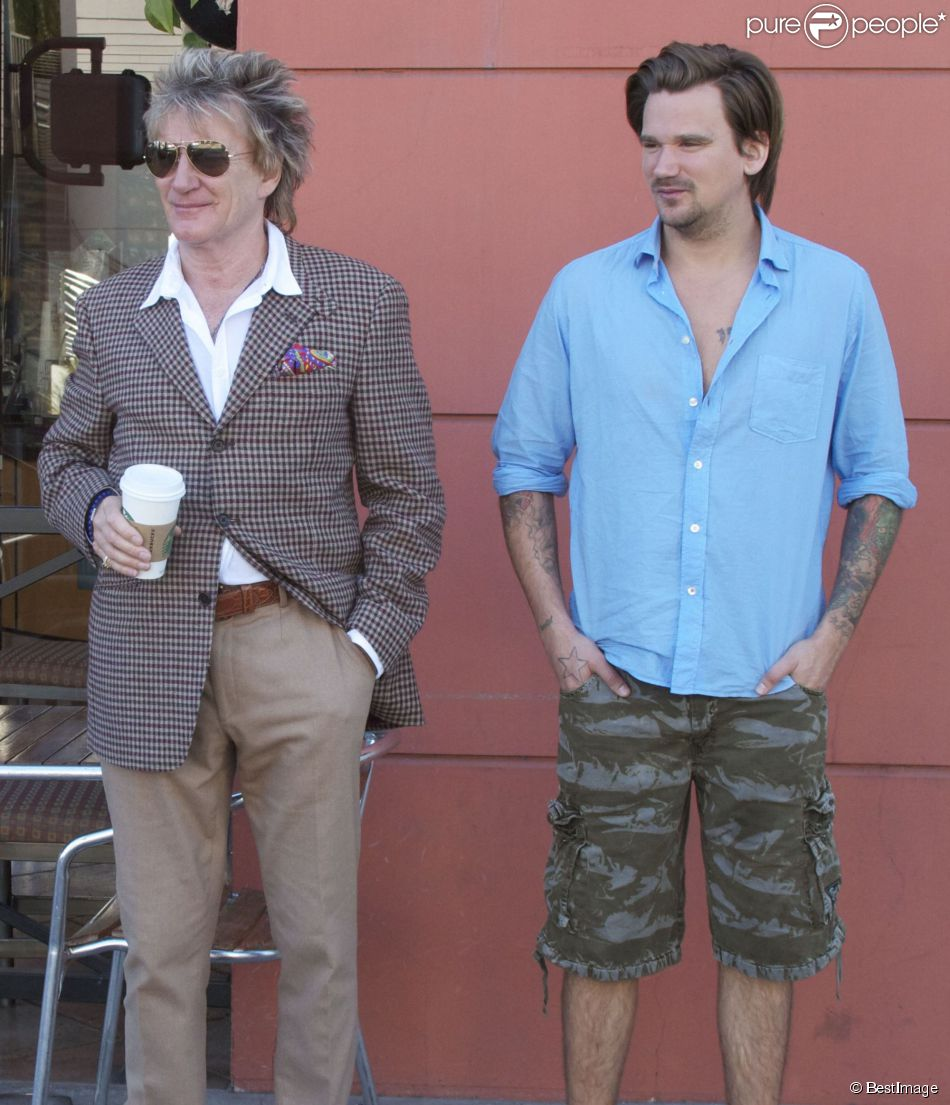 Exclusif - Rod Stewart et son fils Sean Stewart à Beverly ...
