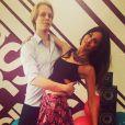 Leila Ben Khalifa et son partenaire de Danse avec les stars, le 11 mars 2015 au Liban.