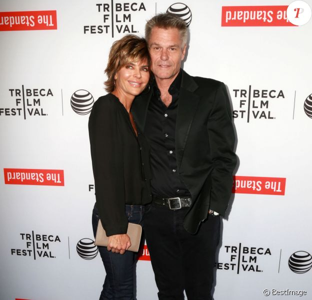 """Lisa Rinna et son mari Harry Hamlin à une réception lors du """"2015 Tribeca Film Festival LA Kickoff """" à Los Angeles, le 23 mars 2015."""