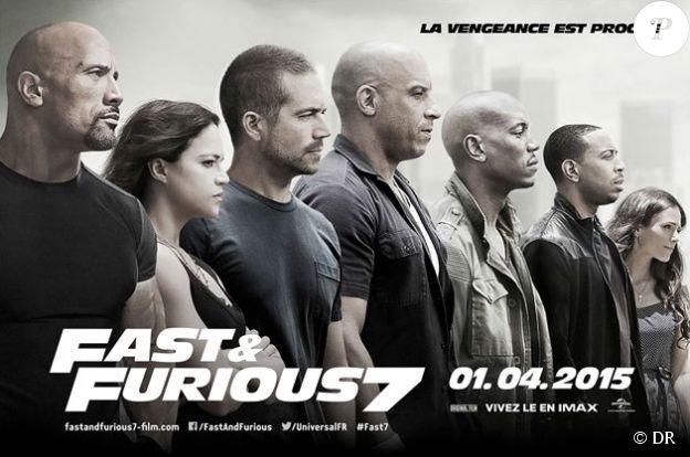 Affiche du film Fast and Furious 7, en salles le 1er avril 2015