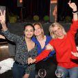 Exclusif - Saïda Jawad, Valérie Trierweiler et Sophie Albou,créatrice de la marque Paul & Joeà la soirée Ladies du jeudi à l'Arc à Paris, le 19 mars 2015.