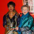 Euzhan Palcy, Emmanuelle Riva -Cérémonie du 10e prix Henri Langlois à la maison de l'UNESCO à Paris le 30 mars 2015.