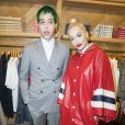 Richard Hilfiger et sa compagne Rita Ora à l'Inauguration de la boutique Tommy Hilfiger Bd des Capucines à Paris le 31 mars 2015.