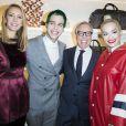 Dee Hilfiger, Richard Hilfiger, Tommy Hilfiger et Rita Ora à l'Inauguration de la boutique Tommy Hilfiger Bd des Capucines à Paris le 31 mars 2015.