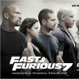 Affiche française de Fast & Furious 7.