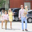 Reese Witherspoon lors du dimanche de Pâques se rend à l'église en famille, à Venice, Los Angels, le 5 avril 2015