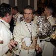 Antonio Banderas participe à la semaine sainte à Malaga en Espagne le 29 mars 2015.