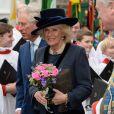 Le prince Charles et la duchesse Camilla lors d'une messe commémorative de la journée du Commonwealth à l'abbaye de Westminster à Londres, le 9 mars 2015.