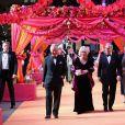 Le prince Charles et Camilla Parker Bowles lors de la première du film The Second Best Exotic Marigold Hotel à Londres le 17 février 2015.