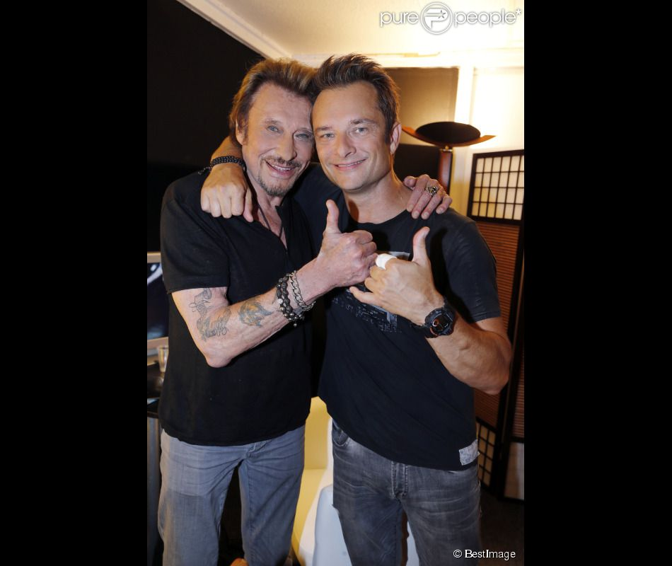 Photo of Johnny Hallyday & his  Son  David Hallyday