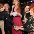 Elsa Zylberstein, Jessica Nelson, Marceline Loridan-Ivens - Prix de la Closerie des Lilas 2015 à Paris, le 8 avril 2015