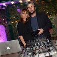 Axelle Laffont et son compagnon Cyril Paglino - Prix de la Closerie des Lilas 2015 à Paris, le 8 avril 2015