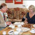 Le prince Charles et Camilla en juillet 2005 lors d'une visite dans une ferme du Pays de Galles.