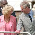 Camilla Parker Bowles et le prince Charles au Devon County Show en mai 2005, un mois après leur mariage.