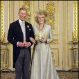 Photo officielle du mariage du prince Charles et de Camilla Parker Bowles, à Windsor le 9 avril 2005