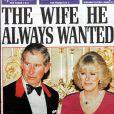 La une du quotidien britannique DailyMail le 11 février 2005 après l'annonce du mariage du prince Charles et Camilla Parker Bowles, célébré le 9 avril 2005 à Windsor.