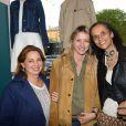 Anne Valérie Hash, Sarah Lavoine, Karine Silla lors de l'inauguration du nouveau design éphémère de la boutique Comptoir des cotonniers de Saint-Sulpice à Paris, le 9 avril 2015
