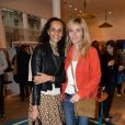 Karine Silla, Marie Poniatowski lors de l'inauguration du nouveau design éphémère de la boutique Comptoir des cotonniers de Saint-Sulpice à Paris, le 9 avril 2015