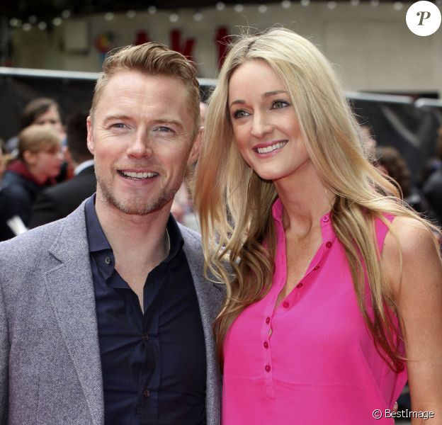 "Ronan Keating et sa fiancée Storm Uechtritz lors de la première de ""Postman Pat: The Movie"" à l'Odeon West End, 40 Leicester Square à Londres, le 11 mai 2014"