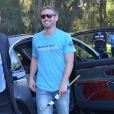 """Cody Walker, le frère de Paul Walker, tout sourire à l'événement caritatif """"Paul Walker's Car Convoy Charity Drive"""" à Sydney le 11 avril 2015."""