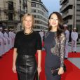 "Karin Viard, Zhang Ziyi - Inauguration de l'hôtel ""The Peninsula"" à Paris le 16 avril 2015."