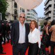 "Gérard Darmon, Sarah Guetta - Inauguration de l'hôtel ""The Peninsula"" à Paris le 16 avril 2015."