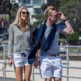Ronan Keating et Storm Uechtritz se baladent à Bondi beach en Australie, le 18 septembre 2014