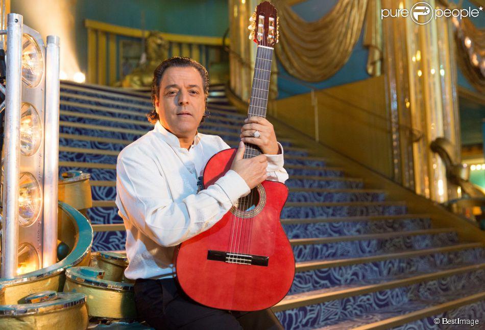 Exclusif - Chico Bouchikhi de Chico & the Gypsies lors de l'enregistrement de l'émission La télé chante pour le Sidaction, diffusée le 28 mars 2015, aux Folies Bergère à Paris.