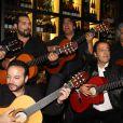 """Le groupe Chico and the Gypsies lors de l'inauguration du restaurant """"Saperlipopette!"""" de Norbert Tarayre (Top Chef 3) à Puteaux, le 17 novembre 2014.17/11/2014 - Paris"""