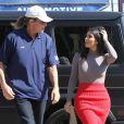 Kim Kardashian avec Bruce Jenner sur Melrose à Los Angeles, le 20 octobre 2014