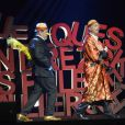 Chevallier et Laspalès se produisent sur la scène de l'Olympia pour le spectacle  Vous reprendrez bien quelques sketches ?  le jeudi 23 avril 2015.
